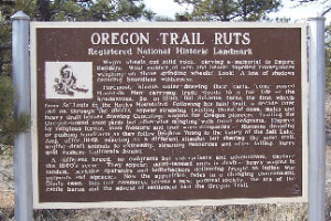 Oregon Trail marker sign
