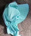 Ladies Gardening, Easter and Out door sunbonnet; Turquoise Blue with tiny print-Rawhide Gifts and Gallery