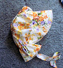 sun bonnets for Ladies Gardening, Easter and Out door sunbonnet; Splashy, colorful, bright flowers-Rawhide Gifts and Gallery