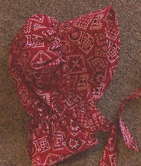 Bandana Print Picnic Style Bonnet from Rawhide Gifts and Gallery