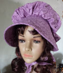 Purple Paisley Gathered Sunbonnet for Ladies