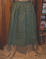 Period Correct Aprons and Material  Color-Half Apron, long waist ties-Rawhide Gifts and Gallery