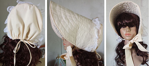 "Long Brimmed ""Victorian"" Sun bonnet Experiment Results"