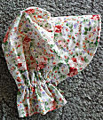 Ladies Gardening, Easter and Out door sunbonnet; Cheerful, colorful, rose clusters-Rawhide Gifts and Gallery