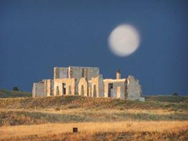 Ghost Orb over the Old Hospital at Ft Laramie National Historical Site
