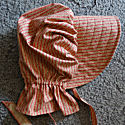 Period Correct Bonnet-striped in rust and tan