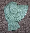 Period Correct Bonnet mint green; subtle pattern