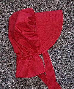 Period Correct Bonnet-red bonnet, Sunmaid Rasisin