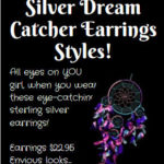 native american silver dream catcher earrings