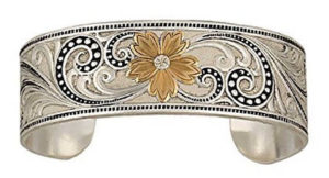 Montana Silversmith Scroll and Floral Cuff Bracelet