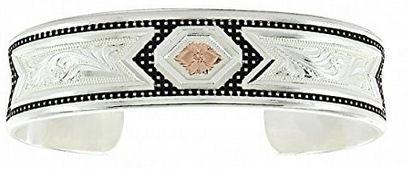 Montana Silversmith Jewelry Women's Crosscut Two Tone Ribbons Silver Bracelet