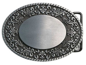 Oval Floral Belt Buckle Blank, western style, for ladies and women