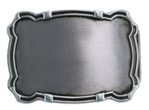 Rectangular Belt Buckle Blank with a nice, masculine decorative edge