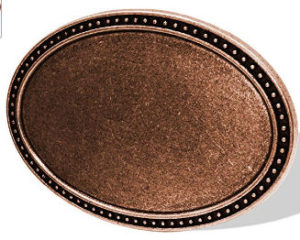 copper toned buckle blank