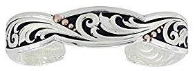 Montana Silversmith Leather cut rose gold traailing vine cuff bracelet cuff