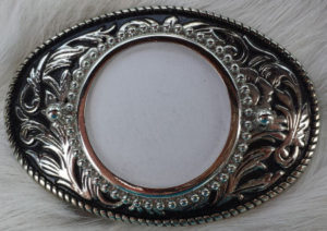 Rawhide Gifts bonnets and bootjacks-Belt Buckle Silver tone blank