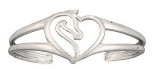 Montana Silversmith Equestrian Heart Ladies Silver Bracelet