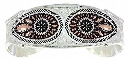 Montana Silversmith Jewelry Ladies Silvertone Bracelet with Jewel inset