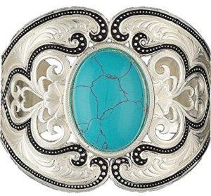Montana Silversmith Jewelry Bracelet Ladies Silvertone scrollwork and turuqoise