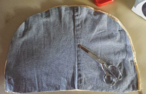 Cut the denim insert