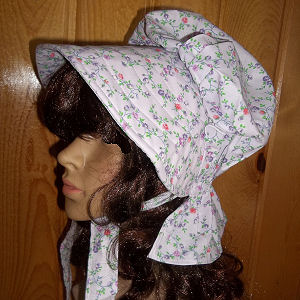 sun bonnets for Ladies Gardening, Easter and Out door sunbonnet; Light lavender w/lavender and pastel colored flowers-Rawhide Gifts and Gallery