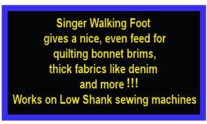 singer walking foot