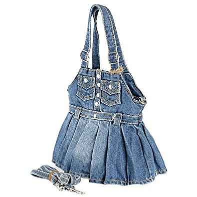 Cute denim dress purse with pockets