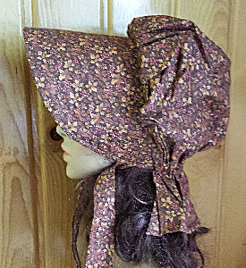 Period Correct bonnet-golden brown with lighter colored autumn leaves