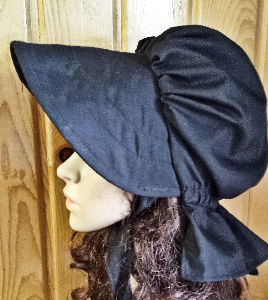 Period Correct Sold Black Bonnet, mourning