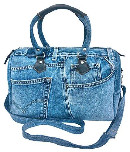 Denim Top Handle Bag