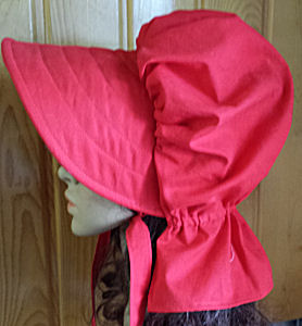 Period Correct Bonnet-red bonnet, Sunmaid Rasisin