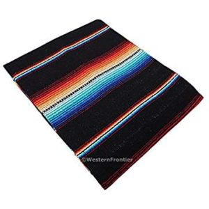 Black and Turquoise Mexican multi colored serape