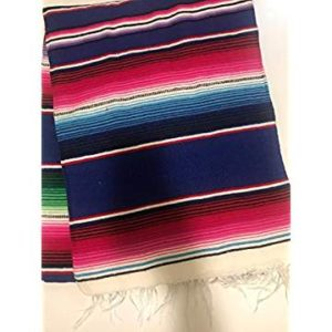 Royal Blue Mexican Serape Blanket