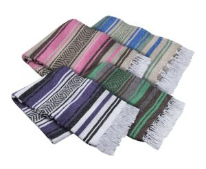 multi colors of mexican serape throws
