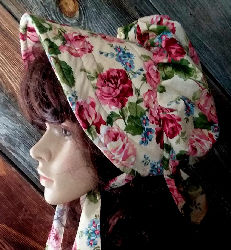 Old Fashioned Garden Rose Ladies sun bonnet