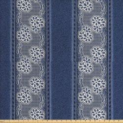 printed denim patterned material