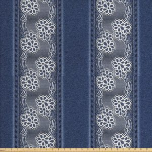 printed denim patterned material