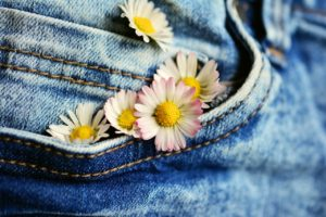 Blue JEan Denim and Daisies