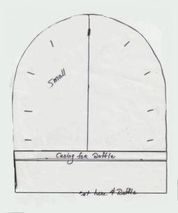 Baby Snap Button Bonnet Cap Back Pattern
