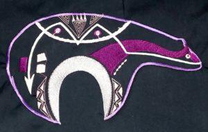 Zuni Bear Purple Tones Shirt Applique Patch