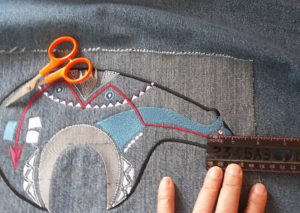 measuring the embroidered patch vertically and horizontally
