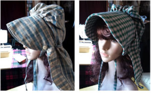 Long Neck Ruffled-Brimmed Bonnet original and the copy I made from it