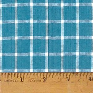 Blue large plaid cotton homespun