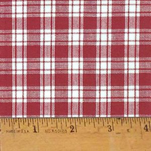 Homespun Burgundy Red Cotton Fabric