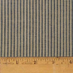 Navy Striped Cotton Homespun